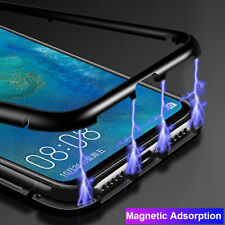 Magnetic Metal+Temper Glass Hybrid Case Cover for Huawei Y9 2019/Mate 20 10 Lite