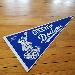 Vintage Brooklyn Dodgers pennant, reproduction