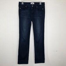 """Paige Women's Size 28 Skyline Straight Leg Stretch Jeans Dark Wash Inseam 28"""""""