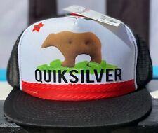 Quiksilver Candy Animal Cracker California Bear Flag Trucker Snapback Cap Hat