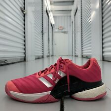 New listing Adidas Barricade 2018 Boost Tennis Shoes AH2093 Shock Pink Mens US Size 12