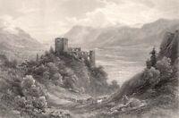 Italy, TYROL BRUNNENBERG CASTLE RUINS Castel Fontana ~ 1875 Art Print Engraving