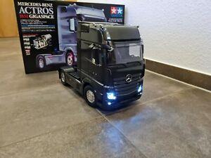 Neu Tamiya Mercedes Benz Actros Gigaspace 1851 Black Edition RC LKW Truck
