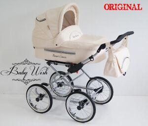 FANARI  CLASSIC Pram Retro Baby Fashion 2in1 CARRYCOT + PUSHCHAIR, FREE EXTRAS!