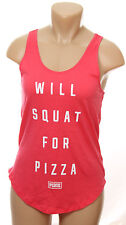 Victoria's Secret Pink Tank Top Gym Racerback XS Will Squat For Pizza NWT