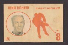 1971-72  FRITO-LAY  BREAKAWAY  # 8  HENRI RICHARD  SLAPSHOT   INV M505