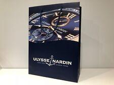 Used - ULYSSE NARDIN - Bolsa Azul Papel - Blue paper bag  38 x 27,5 x 9 cm