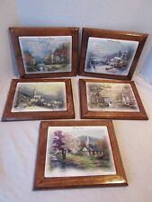 5 Thomas Kinkade Prayers For Our Family Framed Collector Plates Bradford Exchg