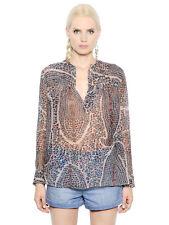 Isabel Marant Etoile Women's Floral Printed Silk Chiffon Shirt Blouse Top L 38