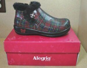 Alegria Women's Meri Tartan Plaid Ankle Comfort Shoes Size 6.5-7 *NIB