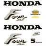 HONDA 5hp 4 Stroke decals/stickers  Quality Product