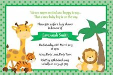 Personalised Baby Shower Jungle Theme Invitation – You Print