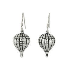 STERLING SILVER PUFFY HOT AIR BALLOON EARRINGS