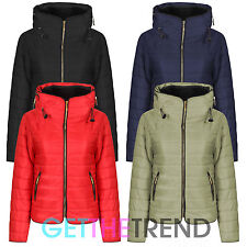 Plus Size Padded Jacket Ladies Womens Puffer Bubble Short Coat Plus Size New