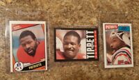 (3) Andre Tippett 1984 Topps Rookie 2nd year 1985 1987 card Lot RC Patriots HOF