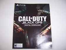 Call of Duty Black Ops Game Download DLC for PS3 PlayStation 3 No Disc Included
