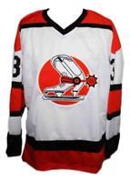 Any Name Number Size Denver Spurs Custom Retro Hockey Jersey White Gassoff