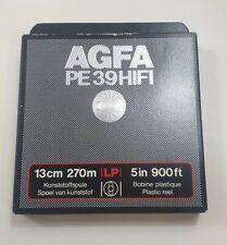 More details for agfa gevaert 13cm 270m 5in 900ft plastic tape reel pe 39 hifi brand new in box