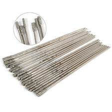 20x 1mm Solid Bits Agate Jewelry Diamond Coated Lapidary Drill Hole Needle bt