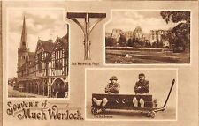 MUCH WENLOCK SHROPSHIRE UK STOCKS~WHIPPING POST~SOUVENIR REAL PHOTO POSTCARD