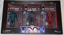 Tron Figure 3 Pack Set Sealed Diamond Select Sdcc 2021 Tomy 1982 Vintage Style