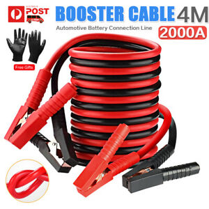 2000AMP Jumper Leads 4M Booster Cable Long Heavy Duty Jump Start Car Truck Van