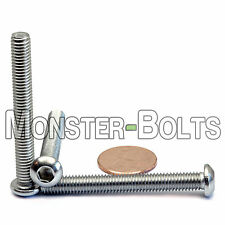 M6-1.0 x 50mm - Qty 10 - Stainless Steel BUTTON HEAD Socket Cap Screws ISO 7380