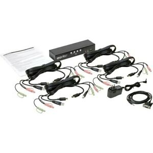Tripp Lite 4-Port HDMI/USB KVM Switch with Audio/Video and USB Peripheral Sharin