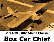 "Model Airplane Plans (UC): Vintage BOX CAR CHIEF 42"" OT Stunt for .29-.35 (1947)"