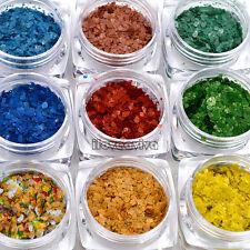 12 Colors Glitter Marble Splinters Powder Nail Art Rhinestones Decoration Set