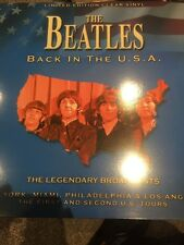 THE BEATLES 'BACK IN THE USA' LEGENDARY BROADCASTS' NEW 2017 LTD CLEAR VINYL LP