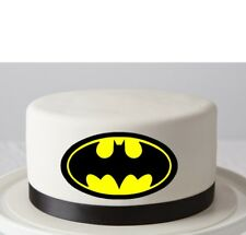 BATMAN LOGO EDIBLE IMAGE PHOTOFROST REAL ICING CAKE TOPPER