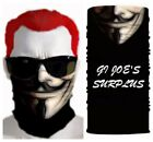 3D Guy Fawkes Anonymous Vendetta Multi-Scarf Face Mask Cover US Seller 2F4
