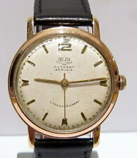 """VINTAGE RARE GOLD PLATED""""GUB-GLASHUTTE""""MENS GERMAN AUTOMATIC WATCH CAL.68.1# 87A"""