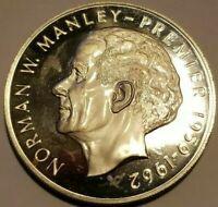 ☆1972 SILVER JAMAICA $5. - COMMEMORATIVE - LARGE COIN - DEEP CAMEO ☆