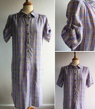 KEW by Jigsaw 100% Linen Shirt Dress Size M UK 12