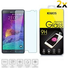 2x KHAOS Ballistic Tempered Glass Screen Protector For Samsung Galaxy Note 4
