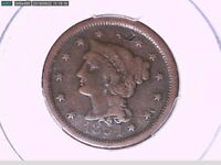 1854 Large Cent PCGS Genuine Damage - F Details 27914454 Video