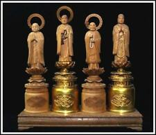 WB05 Japanese wooden Honen,Zendo Daishi,Jizo Bosatsu Statue / Jodo Buddhism