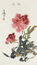 Enmarcado impresión-japonés Obra De Arte Rosa Flores Y Insectos (Arte Imagen Oriental)