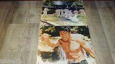 Wang Yu LA TERREUR DE LA CHINE ! 2 photos cinema vintage karaté kung-fu 1973