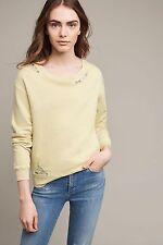 Anthropologie Laced Terry Sweatshirt By Stateside Yellow Medium Retail $88 M EUC