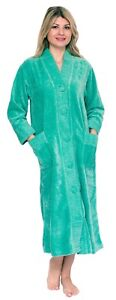 Chenille Robe 100% Cotton Dressing Gown Bathrobe House Coat Buttoned