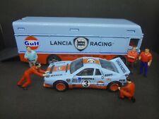 Hot Wheels Lancia Rally 037 w/ Euro Hauler & 5x Team Transporter Crew 1:64 Loose