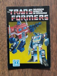 The Original Transformers G1 1980's 'Warrior Robots in Disguise' vintage poster.