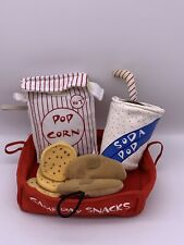 Build A Bear Accessories Game Day Snacks Tray Hot Dog Bun Popcorn Soda Cookies