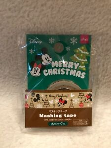 RARE new sealed Disney 'Merry Christmas' masking tape from JAPAN (Mickey Mouse)