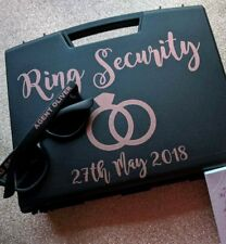 Ring security box , ring pillow alternative , wedding box, wedding ring security