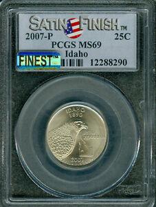 2007-P IDAHO QUARTER PCGS MS 69 SF PQ MAC FINEST GRADE MAC SPOTLESS .