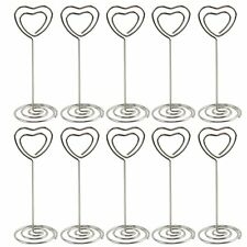 10pcs Place Card Holder Table Heart Shape Wedding Party Favor Clips Silver